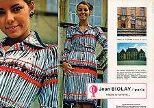 PUBLICITE ADVERTISING 055  1977  JEAN BIOLAY mode Chateau  Flécheres (2 pages)