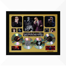 George Michael Signed & Framed Memorabilia - 4CD - Gold - Limited Edition