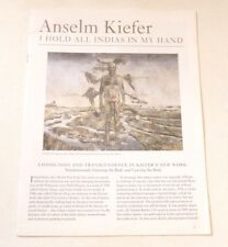 Anselm Kiefer  ART EXHIBITION BOOKLET   I hold all Indias in my hand