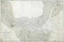 1861 British Admiralty Map of the Savannah River and Calibogue Sound, Georgia