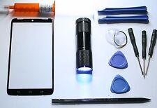 Motorola Droid Turbo XT 1254 Outer Screen Glass Lens Replacement Uv Glue LOCA