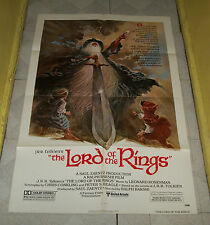 original THE LORD OF THE RINGS (1978) one-sheet poster J.R.R. Tolkien