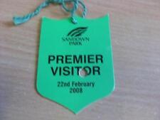 22/02/2008 Sandown Park Races - Horse Racing Badge (good condition with no appar