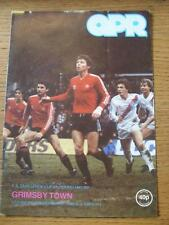 13/02/1982 Queens Park Rangers v Grimsby Town [FA Cup] (Slight Fold).