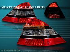 00 01 02 03 04 05 MERCEDES W220 S-CLASS LED SMOKE TAIL LIGHTS W/ BLACK TRIM