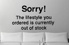 Banksy Wall stickers 'Sorry ! El LIFESTYLE You Ordenado' MÁS ALTA CALIDAD!