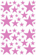 52 LAVENDER STARS VINYL BEDROOM WALL DECALS STICKERS