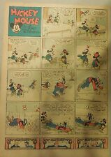 Mickey Mouse Sunday Page by Walt Disney from 12/19/1937 Tabloid Page Size