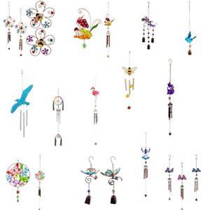 Various Wind chimes includes cat butterfly bee flower angel flamingo bird Garden