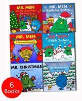 Mr. Men Christmas Childrens Collection 6 Books Set Pack New Gift -Mr Christmas
