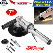"7"" Air Angle Sander 4500rpm Grind Buffer Grinder Pneumatic Sanding Hand Tool New"