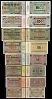 1 - 1000 Rentenmark 8 Rentenbankscheine Ausgabe 01.11.1923  P161 - P 168