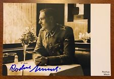 Rochus Misch Hitler's Bodyguard Authentic Signed Four by Six Photo