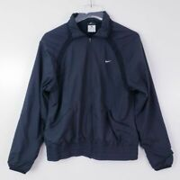 Nike Women's Sz. L Dri-Fit Full Zip Jacket Black Windbreaker