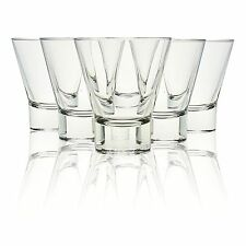 6 x 250ml Bormioli Rocco Ypsilon Drinking Glasses Cocktail Whisky Short Shot NEW