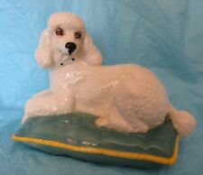 New listing Royal Doulton Figurine ~ White Poodle on Pillow ~ Unusual