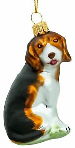 SIKORA BS701 Beagle Christmas tree decoration glass ornament - Exclusive Edition