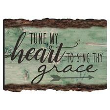 """TUNE MY HEART TO SING THY GRACE Wooden Barky Magnet, 3.5"""" x 2.5"""""""