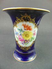 Meissen Vase kobaltblau gold und Blumen