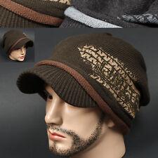 Visor Beanie VEV KHAKI Rasta Skull Knit Cadet Cap Hat Ear warmer Dreadlock