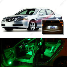For Acura TL 2004-2008 Green LED Interior Kit + Xenon White License Light LED