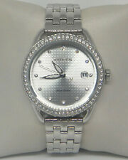 CITIZEN SILVER DIAL CRYSTAL LADIES WATCH  FE6110-55A $275.00