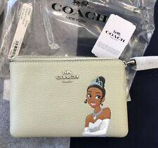 NIB~ Coach Disney X Corner Zip Wristlet w/ Tiana ~fits iPhone or Android*