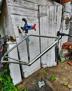 Large Canyon Grail alloy gravel frame, fork, handlebar and water bottle cages