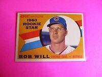 1960 TOPPS baseball Set Break #147 Bob Will Cubs, NmMt High Grade