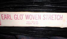 Vintage?  Earl-Glo Woven Stretch Fabric BTY X 44 - Black 100% Nylon - 17 Yards