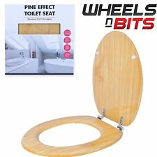 New Quality Pine Effect Wooden Toilet Seat Suitable For Most Standard Toilets