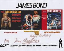 Shirley Bassey HAND SIGNED 8x10 Photo, Autograph, James Bond Goldfinger, 007 (D)
