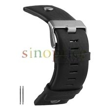 24mm Genuine Leather Watch Band Extra Wide With Rivet Black Color Watchband
