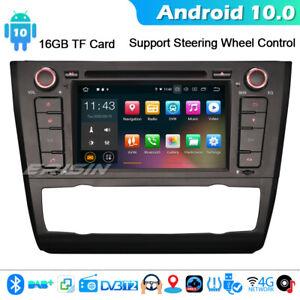 Android 10.0 GPS Radio Stereo For BMW 1 Series E81 E82 E88 CarPlay DVD BT SWC 4G