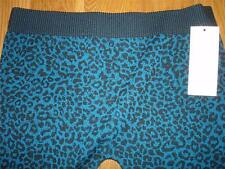 NWT Bongo Teal/ Black Animal LEOPARD Sweater Legging Pants Juniors size Small S