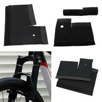 1Pair Cycling MTB Bike Bicycle Front Fork Protector Pad Wrap Cover Set Black MWU