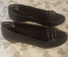ROCKPORT walkability Adiprene Ladies Black Leather Slip On Shoes Pumps UK 3.5
