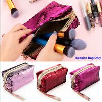 Mermaid Sequin Pen Pencil Case Cosmetic Makeup Coin Pouch Storage Purse Bag Hot