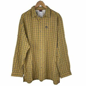The North Face Men's XL Plaid Check Outdoor Hiking Camping Button Down Shirt