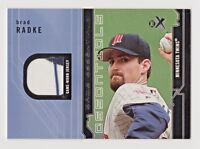 2002 E-X Game Essentials Brad Radke Minnesota Twins Game Worn Jersey Two Color