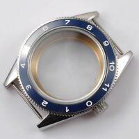 40mm Blue Ceramic Bezel Watch Case Sapphire Cystal Fit ETA 2824/2836 Movement