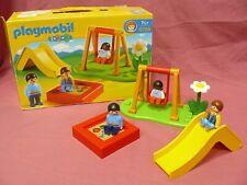 PLAYMOBIL 1.2.3 PARQUE INFANTIL 6785 - SET DE 7 PIEZAS EN MUY BUEN ESTADO 2012