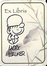 Mort Walker signed Ex Libris bookplate / autograph Beetle Bailey sketch