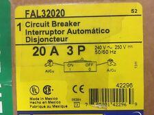 NEW IN BOX  Square-D-FAL32020-20-Amp-3-Pole-240-Volt-Circuit-Breaker--NEW