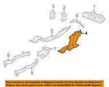 HONDA OEM 08-12 Accord Dash A/C AC Heater-Air Vent Rear Duct Right 83331TA5A00ZA