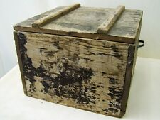 vecchio Scatola munizioni Scatola legno, Casella di materiale WK II Wehrmacht