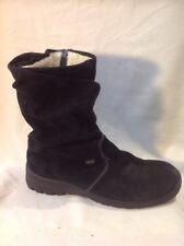 Rieker Black Mid Calf Suede Boots Size 41