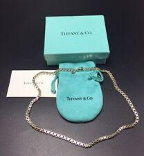 Tiffany & Co.Authentique Argent Sterling Vénitienne Boîte Chaîne Collier 45.7cm