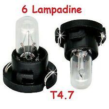 6 Lampadine T4.7 12vPer illuminazione Manopole Clima Manuale Alfa Romeo 147 e Gt