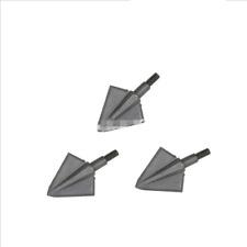 "6 x 1.1"" Archery Solid 2 Blade Broadheads Wide Head 125Grain Hunting Arrow Tips"